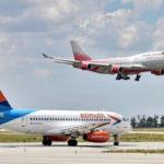 Пассажироперевозки российских авиакомпаний в июле не достигли половины докризисного уровня